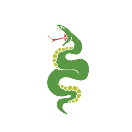 doodle icon. snake. traditional tattoo flash. vector illustration Illustration