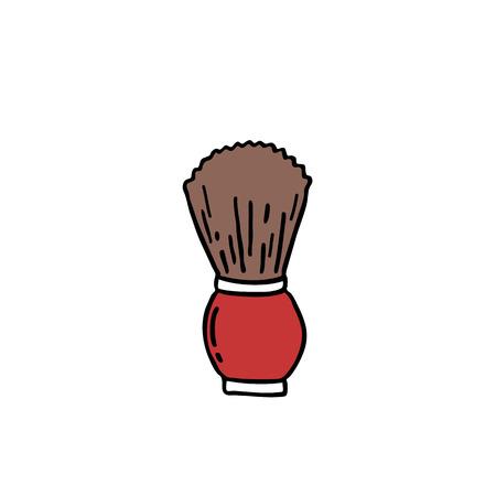 shaving brush doodle icon