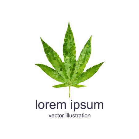 polygonal marijuana leaf