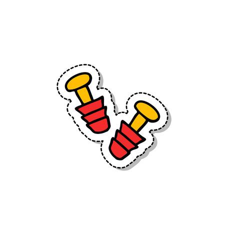 Earplug doodle icon.