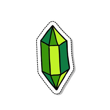 superlative: Gem doodle icon.