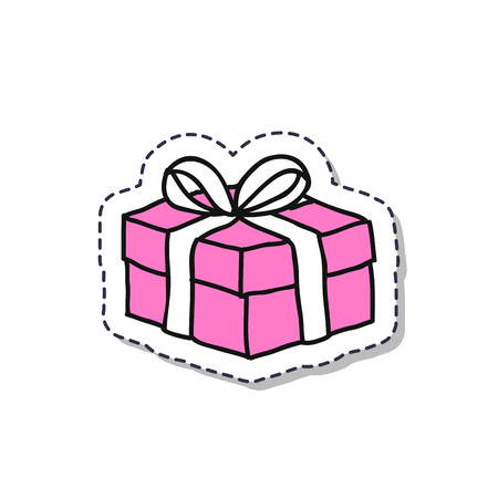 gift doodle sticker icon