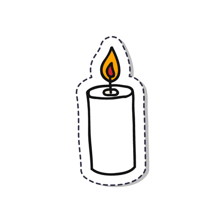 candle doodle sticker icon Ilustrace