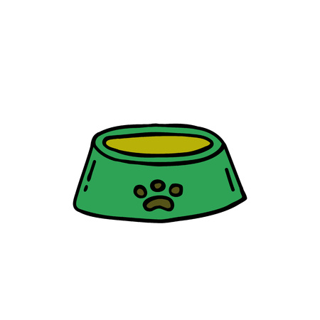 bowl for pets doodle icon