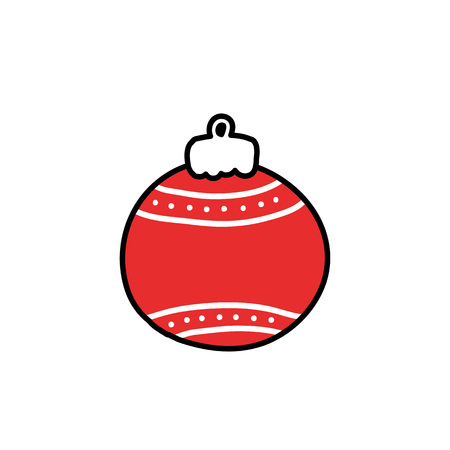 christmas tree toy doodle icon