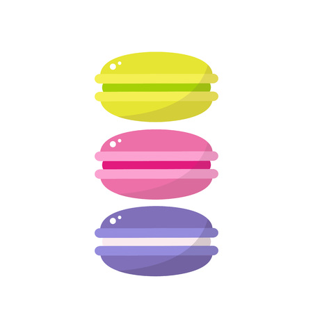 macaroon color vector icons