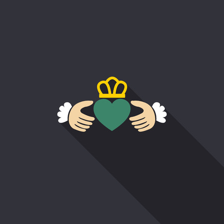 claddagh ring icon. vector illustration Ilustrace