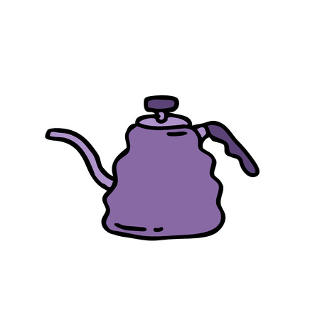 kettle for coffee doodle icon