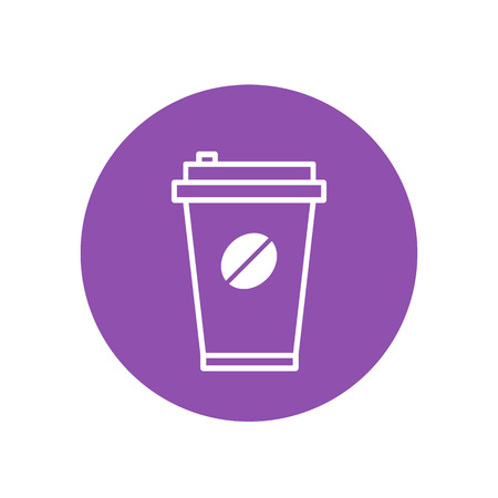 take away coffee cup vector icon