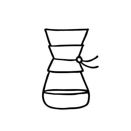 doodle icon. alternative coffee maker. device for brewing coffee Ilustrace
