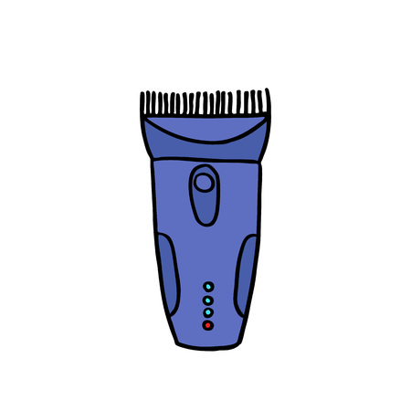 clippers hair doodle icon