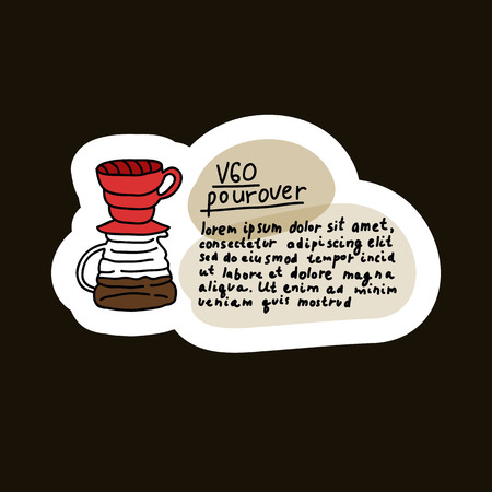 alternative coffee maker, device for brewing coffee doodle icon