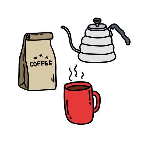 coffee kit doodle icon