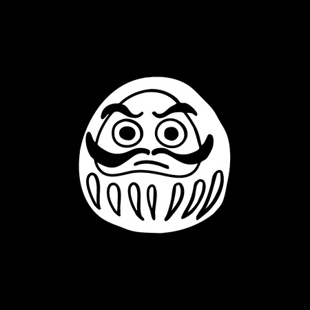 daruma doodle white icon