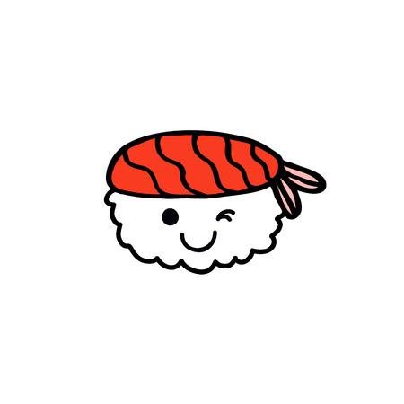 emoji sushi doodle icon