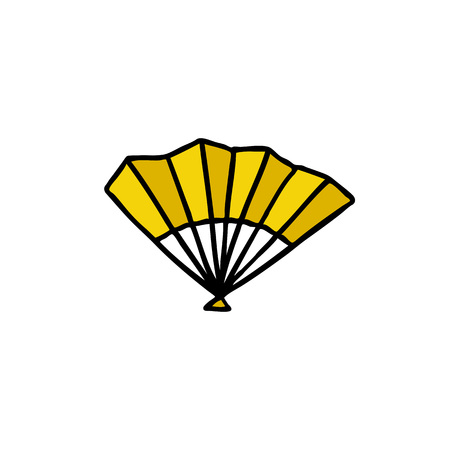 fan doodle color icon