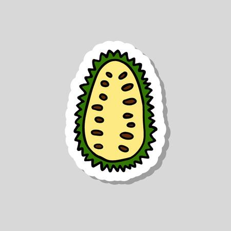 guanabana fruit doodle icon