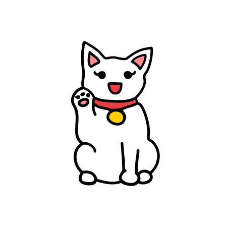 maneki neko emoji doodle icon