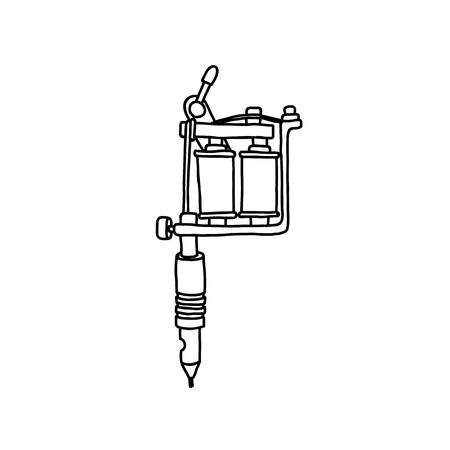 tattoo machine doodle icon Banque d'images - 124814373