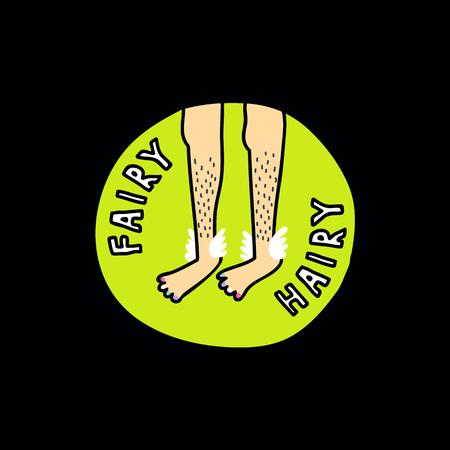 hairy legs doodle sticker