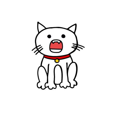 maneki neko doodle icon