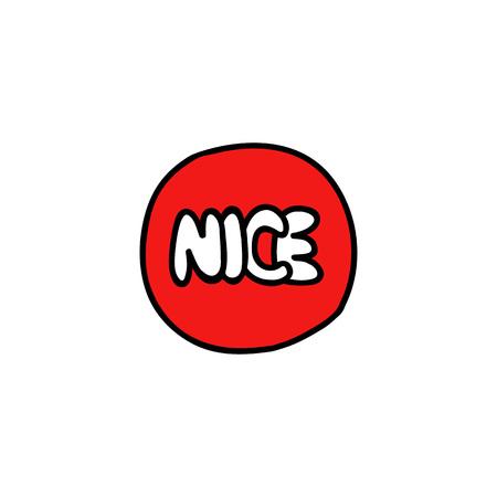 nice sticker doodle icon