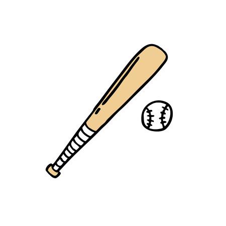 baseball bat doodle icon