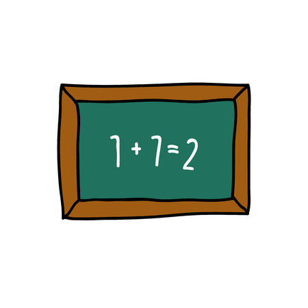 school blackboard doodle icon  イラスト・ベクター素材