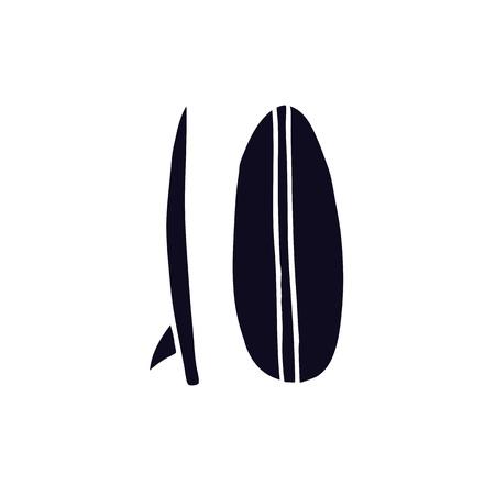 surf board doodle icon