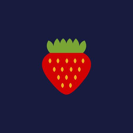 strawberry vector icon Stock Illustratie