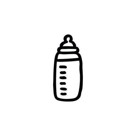 baby nipple bottle doodle icon