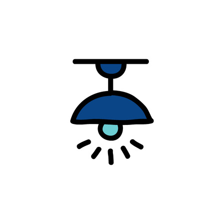 ceiling lamp doodle icon