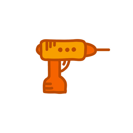 drill kit doodle icon