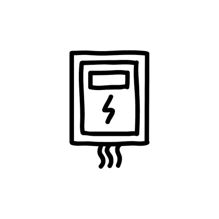 transformer electrical box doodle icon