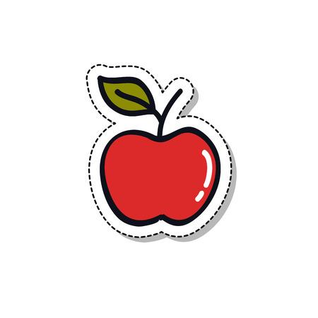 apple doodle sticker icon Stock Illustratie