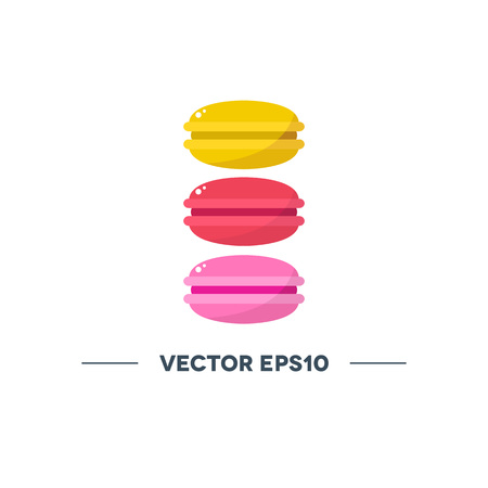 macaroon vector color icon