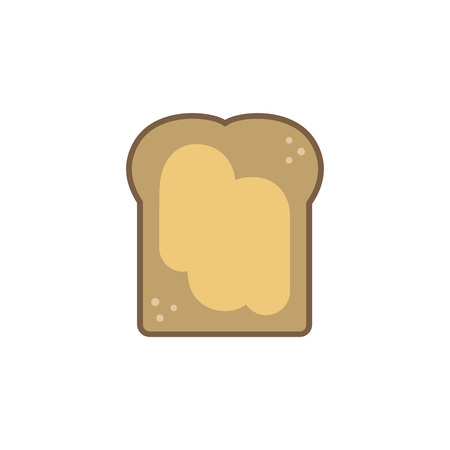 toast with peanut butter vector icon