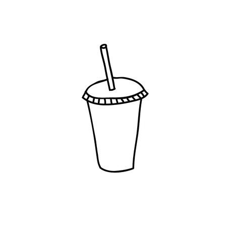 soda take away cup doodle icon
