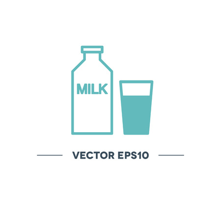 milk vector line icon