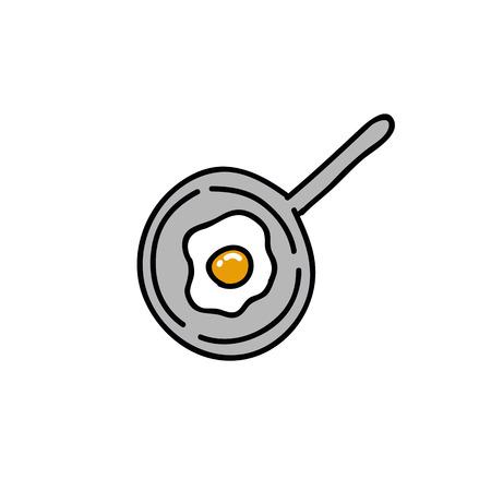 scrambled eggs doodle icon Çizim