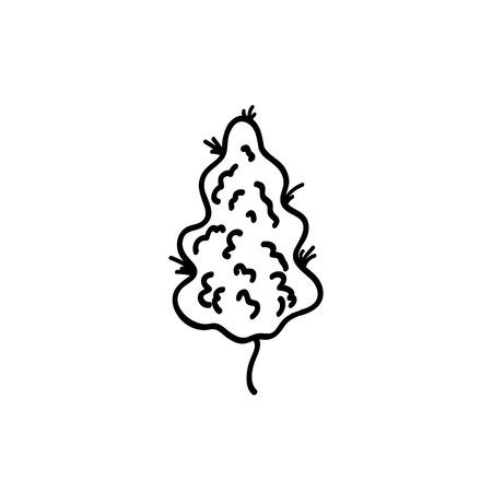 marihuana bud doodle icon Фото со стока - 124768271