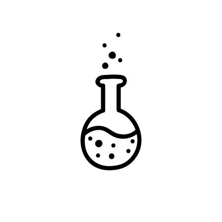 laboratory flask doodle icon