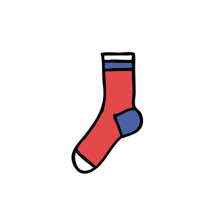 sock doodle color icon 일러스트