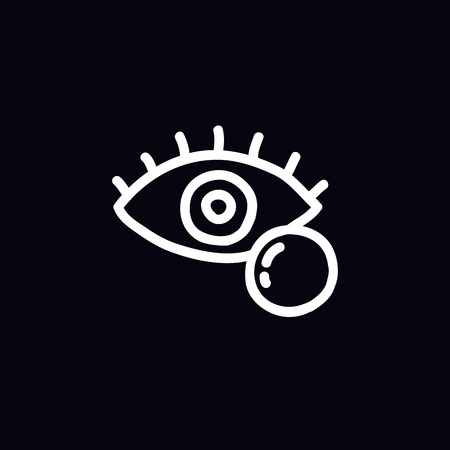 ophthalmic lenses doodle icon