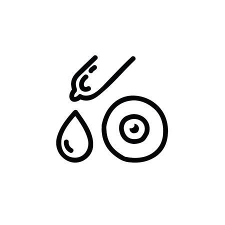 eye drops doodle icon