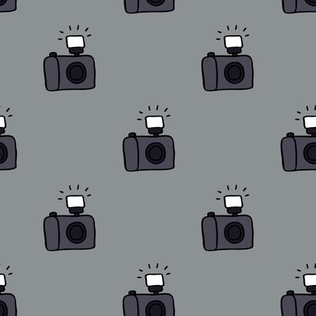 camera seamless doodle pattern