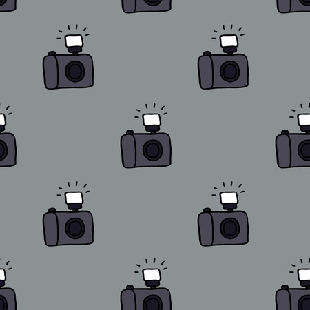 camera seamless doodle pattern