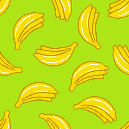 banana seamless doodle pattern