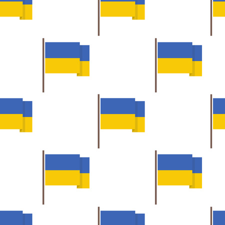 flag of Ukraine seamless pattern 일러스트