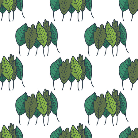 green, greenery, verdure seamless doodle pattern Ilustrace